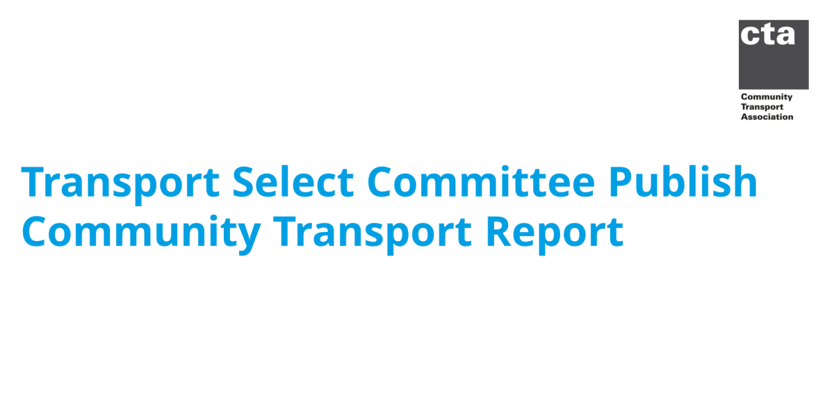 Transport Select Committee publish Community Transport Report