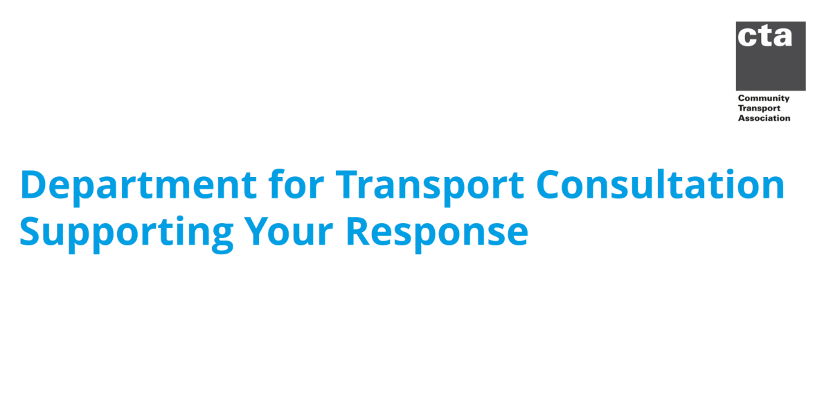 Department for Transport Consultation – Supporting Your Response